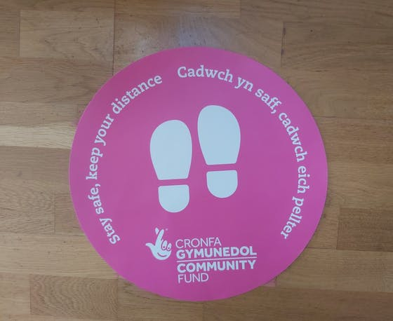 Stay safe indoor floor sticker